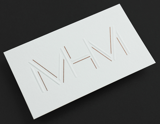 Embossed Business Cards Design